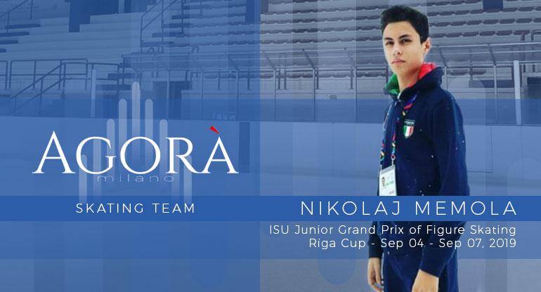 Nikolaj Memola al ISU Junior Grand Prix di Riga