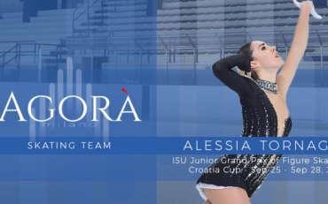 Alessia Tornaghi al ISU Junior Grand Prix di Zagabria
