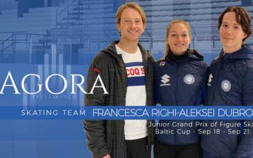 Francesca Righi e Aleksei Dubrovin al ISU Junior Grand Prix di Gdansk
